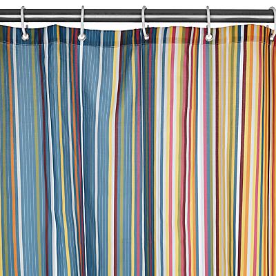 John Lewis Spirit Stripe Shower Curtain, Multi