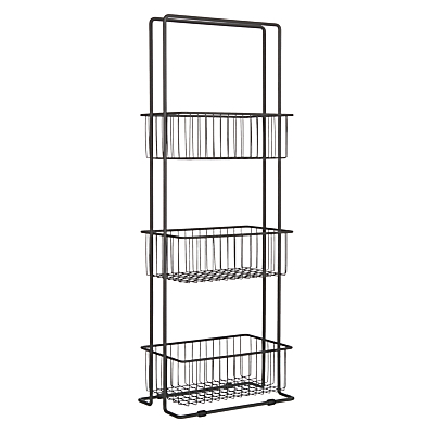 House by John Lewis 3 Tier Wireware Caddy, Grey