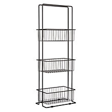 Buy House by John Lewis 3 Tier Wireware Caddy, Grey Online at johnlewis.com