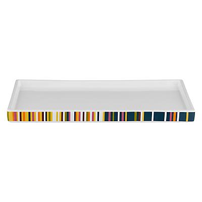 John Lewis Spirit Stripe Bathroom Accessories Tray