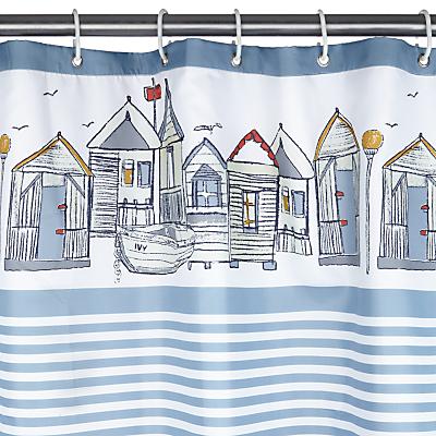John Lewis Beach Huts Shower Curtain
