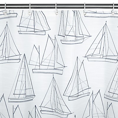 John Lewis Sailing Blueprint Shower Curtain