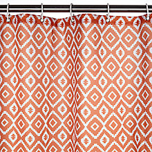 Buy John Lewis Nazca Shower Curtain, Paprika Online at johnlewis.com