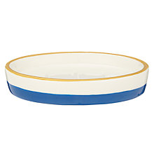 Buy John Lewis Salcombe Stripe Soap Dish, Nautical Blue Online at johnlewis.com