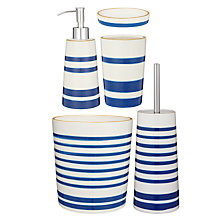 Buy John Lewis Salcombe Stripe Bathroom Accessories Online at johnlewis.com