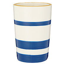 Buy John Lewis Salcombe Stripe Bathroom Tumbler, Nautical Blue Online at johnlewis.com
