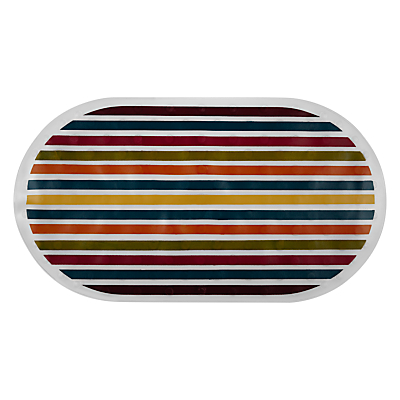 John Lewis Spirit Stripe Bath In-Mat, Multi