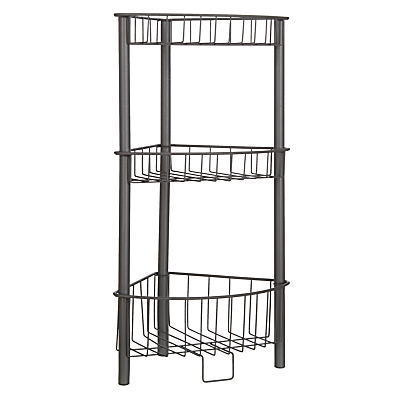 House By John Lewis 3 Tier Wireware Caddy Grey