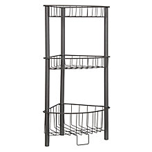 Buy House by John Lewis 3 Tier Wireware Corner Unit, Grey Online at johnlewis.com