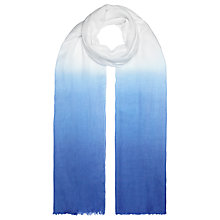 Buy John Lewis Dip Dye Modal Scarf, White/Blue Online at johnlewis.com