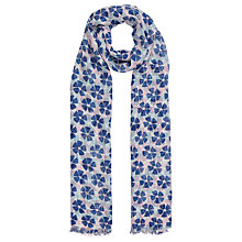 Buy John Lewis Windmill Flower Print Scarf, Blush/Navy Online at johnlewis.com