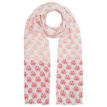 Buy John Lewis Bamboo Blend Friendly Crab Scarf, Pink Online at johnlewis.com