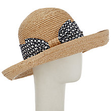 Buy John Lewis Bow Detail Garden Sun Hat, Natural Online at johnlewis.com