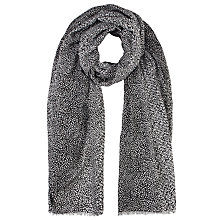 Buy John Lewis Graduated Speckle Scarf, Black Online at johnlewis.com