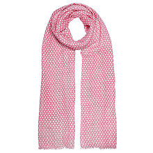Buy John Lewis Tile Print Scarf, Candy Pink Online at johnlewis.com