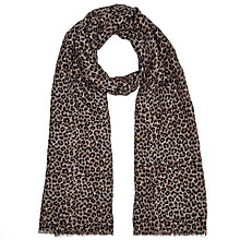 Buy John Lewis Spring Leopard Print Scarf, Taupe Online at johnlewis.com