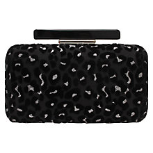 Buy Miss KG Toya Clutch Bag, Black/White Online at johnlewis.com