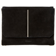 Buy Dune Bentley Suede Clutch Bag, Black Online at johnlewis.com