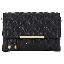 Buy Dune Emeni Quilted Clutch Bag, Black Online at johnlewis.com