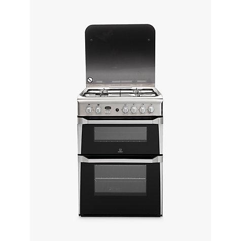 buy indesit id60g2x gas cooker stainless steel john lewis. Black Bedroom Furniture Sets. Home Design Ideas