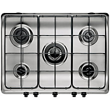 Buy Indesit PIM750ASTIX Gas Hob, Stainless Steel Online at johnlewis.com