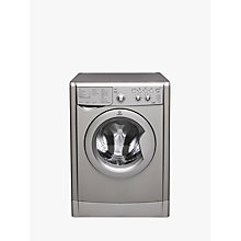 Buy Indesit IWDC6125S Freestanding Washer Dryer, 6kg Wash/5kg Dry Load, B Energy Rating, 1200rpm Spin, Silver Online at johnlewis.com