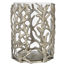 Buy Culinary Concepts Coral Hurricane Lantern, Small Online at johnlewis.com