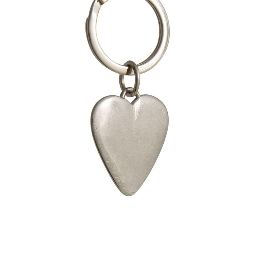 Lancaster and Gibbings Lancaster and Gibbings Heart Pewter Key Ring