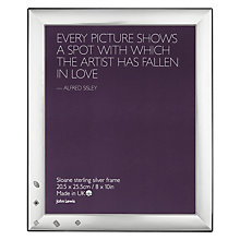 "Buy John Lewis Sloane Sterling Silver Photo Frame,  8 x 10"" Online at johnlewis.com"