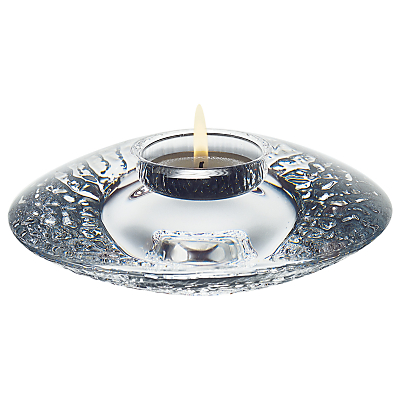 Orrefors Discus Votive Candle Holder, Clear