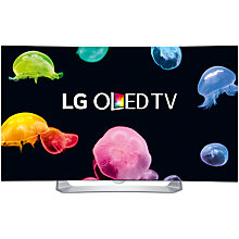 "Buy LG 55EG910V Curved Full HD OLED 3D Smart TV, 55"" with Freeview HD, 2x 3D Glasses & 2x 3D Clip-On Glasses Online at johnlewis.com"