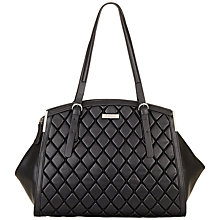 Buy Fiorelli Aniya Shoulder Bag, Black Quilt Online at johnlewis.com