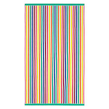 Buy John Lewis Multi Stripe Beach Towel Online at johnlewis.com