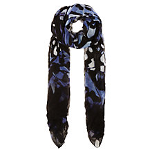 Buy Karen Millen Butterfly Skinny Scarf, Blue/Multi Online at johnlewis.com