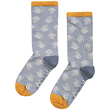 Buy Seasalt Sailor Anchor Rose Ankle Socks, Pack of 1, Dove Grey/Mustard Online at johnlewis.com