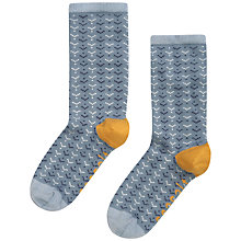 Buy Seasalt Sailor Scandi Chevron Ankle Socks, Pack of 1, Cornflower Online at johnlewis.com