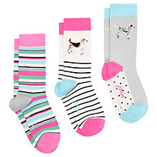 Buy Joules Brillbamset Dog Ankle Socks, Pack of 3, Multi Online at johnlewis.com