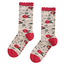 Buy Seasalt Floral Feet Ankle Socks, Flora Driftwood Online at johnlewis.com