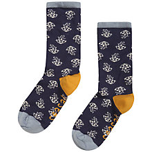 Buy Seasalt Sailor Anchor Rose Ankle Socks, Pack of 1, Navy Online at johnlewis.com