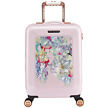 Buy Ted Baker Arianna Hanging Gardens 4-Wheel 54cm Suitcase, Pink Online at johnlewis.com