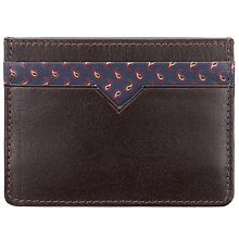 Buy John Lewis Paisley Leather Card Holder, Brown Online at johnlewis.com
