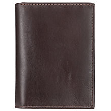Buy John Lewis Paisley Leather Shirt Wallet, Brown Online at johnlewis.com