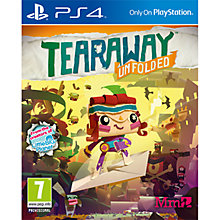 Buy Tearaway Unfolded, PS4 Online at johnlewis.com