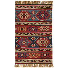 Buy Weaver Green Taurus Horns Kelim Washable Outdoor Rug Online at johnlewis.com