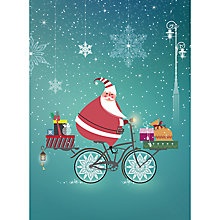 Buy CCA Cycling Santa Personalised Cards Online at johnlewis.com
