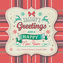 Buy CCA Message in Tartan Personalised Cards Online at johnlewis.com