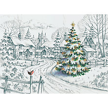 Buy CCA Village Christmas Personalised Cards Online at johnlewis.com