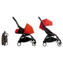 Buy Babyzen Yoyo Birth Pushchair and Carrycot Package, Black/Red Online at johnlewis.com