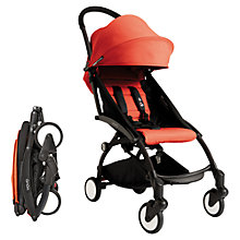 Buy Babyzen Yoyo 6 Month+ Pushchair Package, Black/Red Online at johnlewis.com