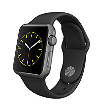 Buy Apple Watch Sport with 38mm Space Grey Aluminium Case & Sport Band, Black Online at johnlewis.com